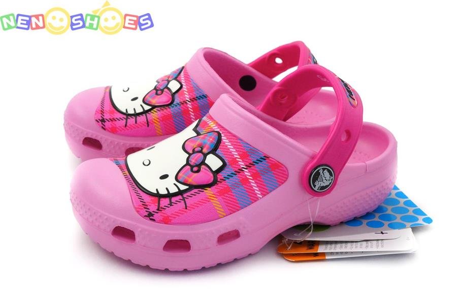 0f74ca4ff02e CROCS CC Hello Kitty Plaid Clog (EU) carnation - neon magenta.